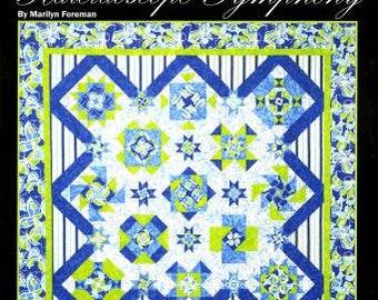 Kaleidoscope Symphony Quilt Patterns, 9 Blocks, Marilyn Foreman, Quilt Moments