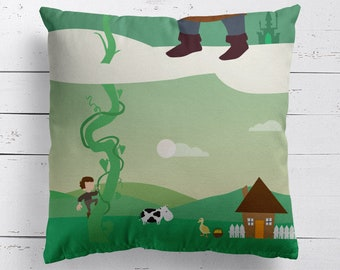 Jack and the Beanstalk Fairy Tale Cushion, Fairy Tale Pillow, Fairy Tale Cushion