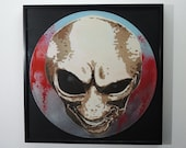 Alien art on vinyl record...