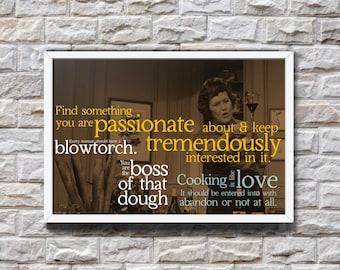 Digital Download Poster Julia Child Quotes Kitchen Cooking Wine Motivational