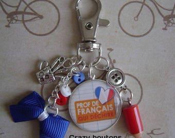 "Keychain or bag charm ""French teacher"""