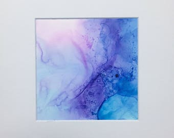 Fairy Wings Alcohol Ink Painting (5x5)