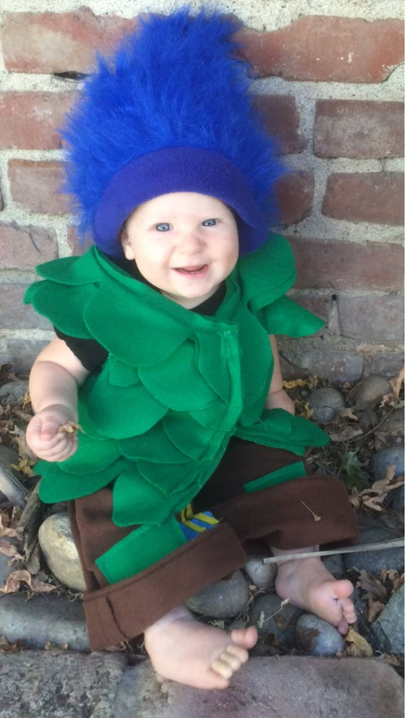 Branch happy troll blue troll cute troll costume branch costume adorable Halloween costume little boy costume troll costume smash cake troll  sc 1 st  Etsy & Branch happy troll blue troll cute troll costume branch