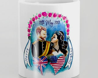 Royal wedding mug Harry and Meghan royal wedding commemorative mug royal wedding party When Harry Met Meghan Royal Engagement wedding Coffee