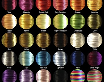 1 yd - 2mm Rattail Cord for Silicone Teething Necklaces and Teethers in 30 Colors