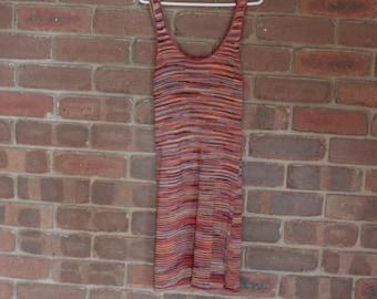 Colourful rainbow beach dress