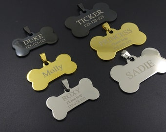 Personalized Pet Tag, Personalized Dog Tag Custom Dog Tag Custom Pet Tag, Double-Sided Dog Tags for Dogs, One or Two sided Dog Tag Pet Tag