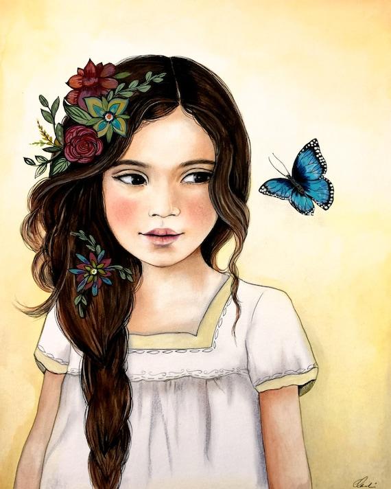 flowers in her hair..2