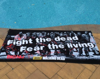 ZOMBIES Dead Beach Towel - Personalized Fear the Living Fight the Dead Personalized Beach Towel