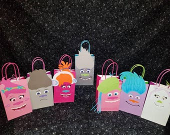 12 Troll Inspired Party Bags// Goodie bags// Gift Bags