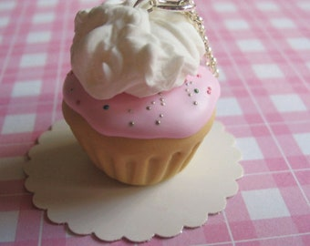 Strawberry Scented Cupcake Necklace