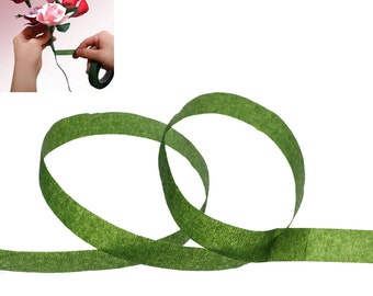 free shipping in UK - Paper Florist Floral Stem Wrap Artificial Flower Tape Dark Green 12mm 1 Roll