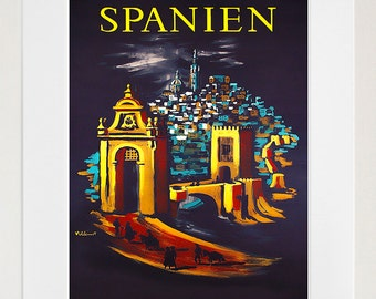 Spain Wall Art Spanish Print Travel Poster Home Decor (ZT645)