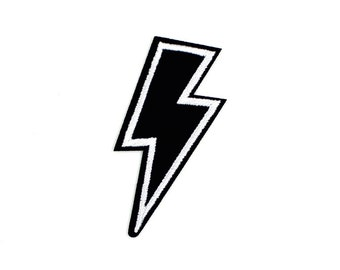 Flashing Lightning Sew On / Iron On DIY Patch Embroidered Applique 3.3x6.7cm - RP593