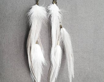 Feather Steam punk Earrings