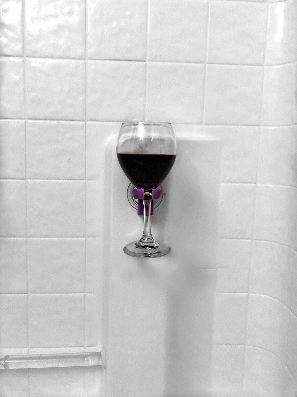 Bath Wine Holder - Bathtub Caddy - Wine Glass Rack - Wine Glass ...