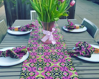 Housewarming gift, Reversible table runner, African print table cloth, Hostess gift,  Home decor, Kitchen decor, Gift hostess, Table runner