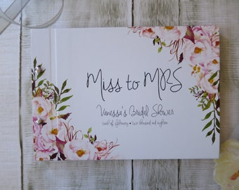 Vanessa Florals | Personalised Custom Made Guestbook | Wedding | Engagements | Parties | Australia Seller