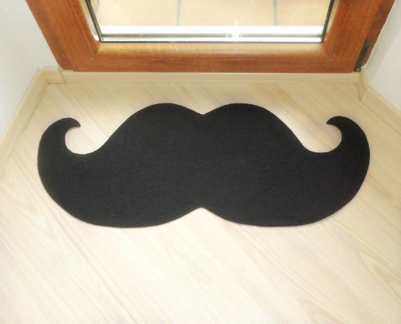 Curl Mustache Floor Mat Elegant Doormat Choose The Color Of