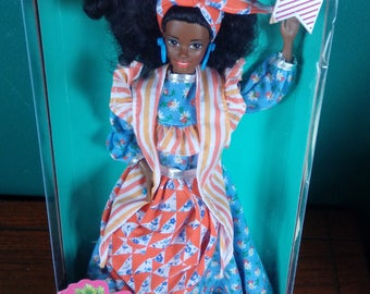 Mattel Dolls of the World Jamaican African American Barbie Doll