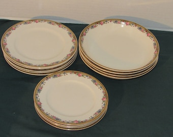 Antique Smith Phillips PRINCESS IVORY China Dinnerware Extras 1920's Plates Bowls