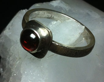 Red Garnet Gemstone ring, Size 10 1/2 US, Birthstone ring, Sterling Silver Ring, Silver Garnet ring, Red Garnet ring, Garnet Jewelry