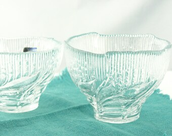 Set of 2 Lausitzer Crystal Bowls - Made in the German Democratic Republic (East Germany)