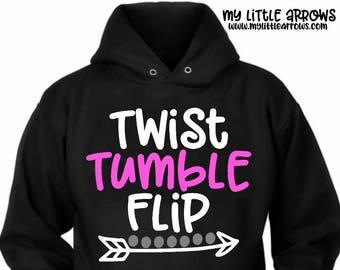 Twist tumble flip svg | tumble svg | tumbling svg | gymnastics svg | gymnastics iron on | gymnastics dxf | flip svg | gymnastics printable