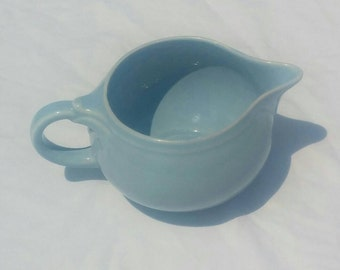 Pale Blue LuRay creamer, vintage 1940s