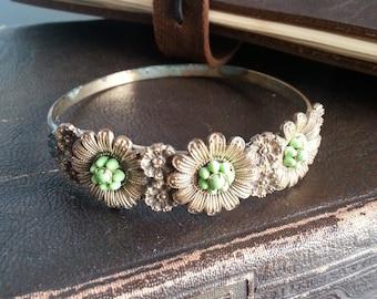vintage floral bangle bracelet