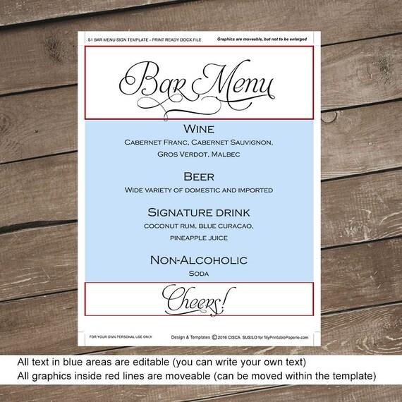 Großartig Hochzeit Bar Menüvorlage Fotos - Entry Level Resume ...