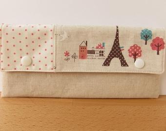 Paris in Pink Pencil + Needle Case