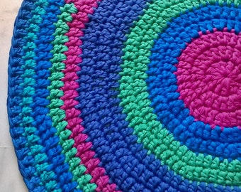 CARPET. HANDMADE. Recycled Cotton. Colorful Carpet