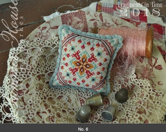 NEW! SUMMER HOUSE STiTCHE WoRKS #5 & #6 #1 #2 #3 #4 Fragments in Time 2018 SaL cross stitch patterns at thecottageneedle.com ornaments