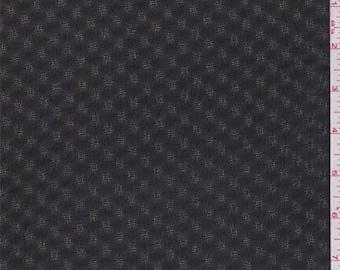 Black Diamond Leno Chiffon, Fabric By The Yard
