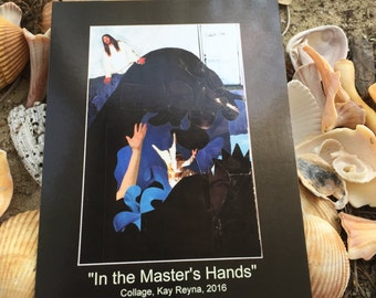 """Artwork """"In the Master's Hands"""" Postcard"""