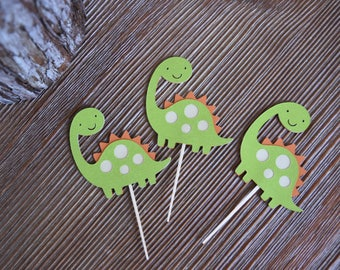 Dinosaur cupcake toppers, Dino Theme Party