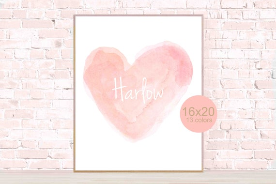 """Personalized Heart Poster, 16x20, 12""""x16"""""""