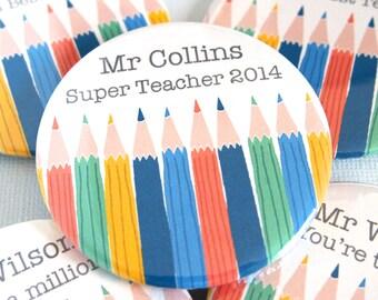 Personalised Best Teacher Magnet - Teacher Gifts - Gift for Teacher - Personalised Teacher Gift - End of Term Gift - Teacher Magnet