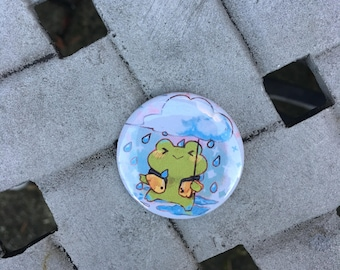 """Froggy 1.5"""" Pinback Button"""