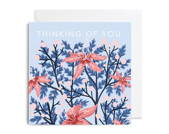 Greetings Card - Thinking of You Floral Greetings Card