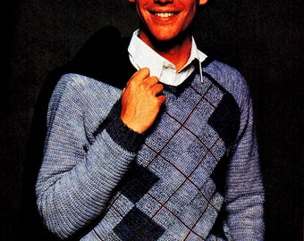 Crochet Pattern, Mens Pullover Sweater Crochet Pattern, Handmade Gift Idea, INSTANT Download Pattern PDF (1109)