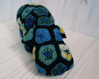 Crochet toy hippo (African flower) toy decoration