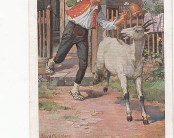Brothers Grimm Fairy Tale Early Postcard, One Of Twenty In Collection,Lovely Color