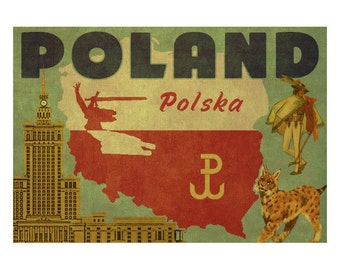 POLAND 2FS- Handmade Leather Journal / Sketchbook - Travel Art