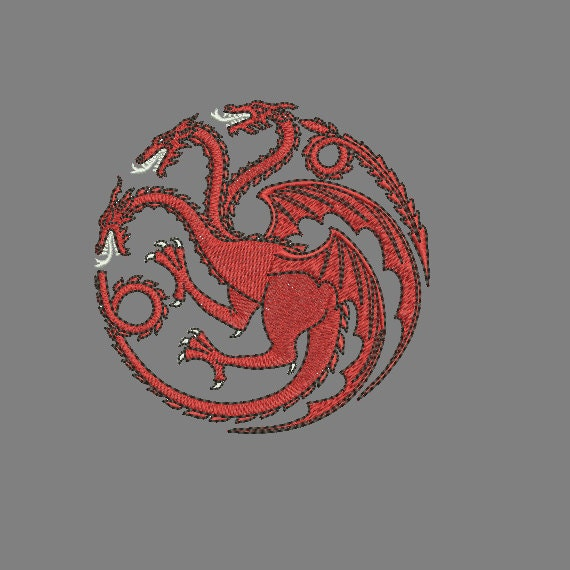 Machine Embroidery Design Instant Download Dragon