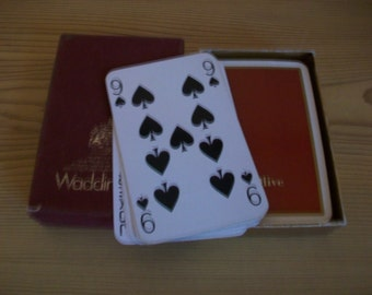 Boxed Vintage Waddingtons Playing Cards, By appointment to Her Majesty The Queen