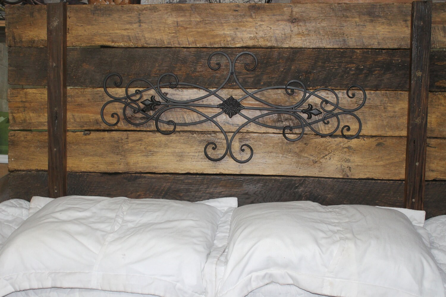 50 Kids Wrought Iron Bed Wrought Iron Queen Headboard: Wrought Iron Rustic Wood HeadboardCassidey