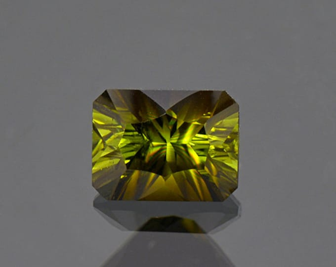 FLASH SALE! Lovely Concave Cut Green Tourmaline Gemstone from Tanzania 2.10 cts.