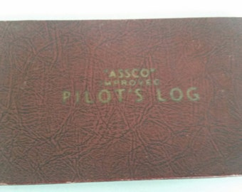 Vintage Aviation Service Supply Co. Assco Improved Pilot's Log AIr Force 1951 Free Shipping